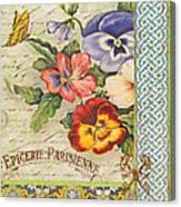 Pansy Garden-b Canvas Print
