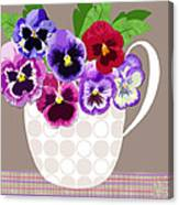 Pansy Passion Canvas Print