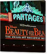 Pantages Theather Marquie Canvas Print