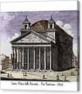 Pantheon Santa Maria Della Rotonda Canvas Print