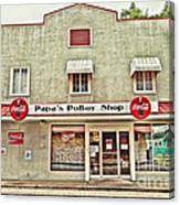 Papa's Poboy Shop Canvas Print