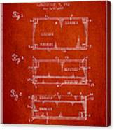 Paper Currency Patent From 1962 - Red Canvas Print