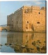 Paphos Harbour Castle Canvas Print
