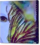 Papillon Bleu Canvas Print