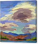 Papoose Lake And Clouds Canvas Print