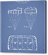 Parachute Design Patent From 1964 - Light Blue Canvas Print