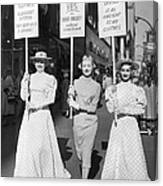 Parade For Court Reform Canvas Print