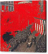 Parade Honoring General Eisenhower On June 29 1945 In New York City Canvas Print