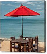 Paradise Dining Canvas Print