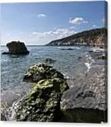 Binigaus Beach In South Coast Of Minorca Island Europe - Paradise Is Not Far Away Canvas Print