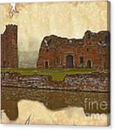 Parchment Texture Kirby Muxloe Castle Canvas Print