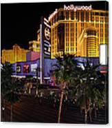 Paris And Planet Hollywood - Las Vegas - 01131 Canvas Print