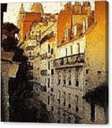 Paris Apartment View Of Montmartre Canvas Print