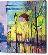 Paris Arc De Triomphie  Canvas Print