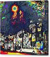 Paris At Midnight Limo Pleasure Drive Canvas Print