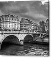 Paris Black And White Canvas Print