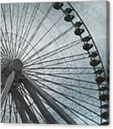 Paris Blue Ferris Wheel Canvas Print