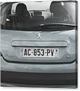Paris Blue Peugeot Canvas Print
