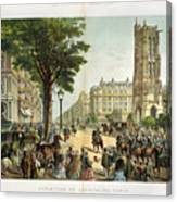 Paris Boulevard, 1859 Canvas Print