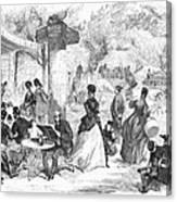 Paris: Boulevard, 1872 Canvas Print