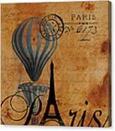 Paris By Postcard Canvas Print