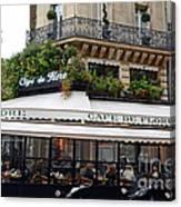 Paris Cafe De Flore - Paris Fine Art Cafe De Flore - Paris Famous Cafes And Street Cafe Scenes Canvas Print