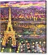 Paris City Of Lights Canvas Print