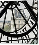 Paris Clock Canvas Print
