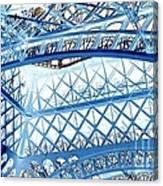 Paris Design In Blue Canvas Print