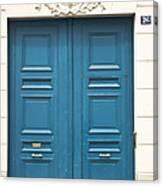 Paris Door Canvas Print