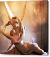 Paris Eros And Psyche Louvre Museum- Musee Du Louvre Angel Sculpture - Paris Angel Art Sculptures Canvas Print