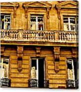 Paris Facade Canvas Print