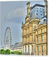Paris Ferris Wheel Canvas Print