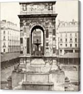 Paris Fountain, C1858 Canvas Print