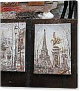 Paris France - Street Scenes - 121225 Canvas Print