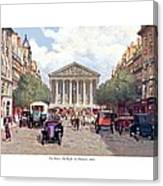 Paris France - The Rue Royal And The Madeleine - 1910 Canvas Print