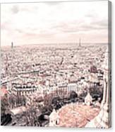 Paris From Above - View From Sacre Coeur Basilica Canvas Print