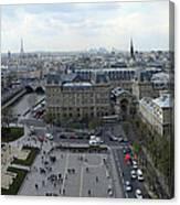 Paris From Notre Dam Canvas Print