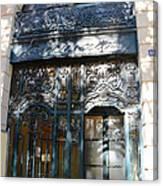 Paris Guerlain Storefront Boutique - Paris Guerlain Blue Door Art Nouveau Art Deco Door Canvas Print