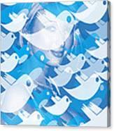 Paris Hilton Twitter Canvas Print