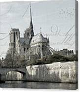 Paris History Canvas Print