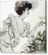 Paris Holiday  1904 Canvas Print