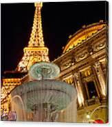 Paris Hotel And Casino In Las Vegas Canvas Print