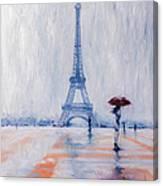 Paris In Rain Canvas Print