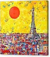 Paris In Sunlight Canvas Print