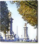 Paris In The Fall 1954 Canvas Print