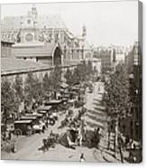 Paris: Les Halles, C1900 Canvas Print