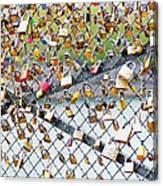 Paris - Locks Of Love Canvas Print
