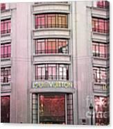 Paris Louis Vuitton Boutique Fashion Shop On The Champs Elysees Canvas Print