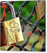 Paris Love Lock Canvas Print